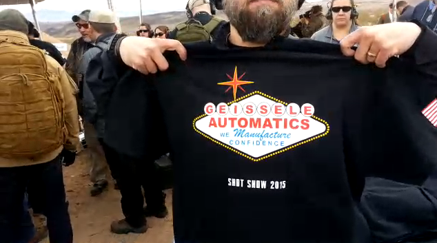 Tactical shit visits the geiselle automatics booth at shot show 2015