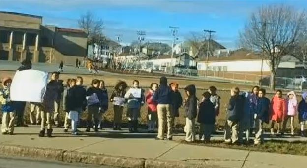 [VIDEO] Second graders hold Ferguson protest at school